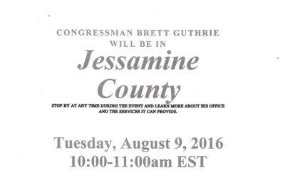 Congressman Brett Guthrie will be in Jessamine County