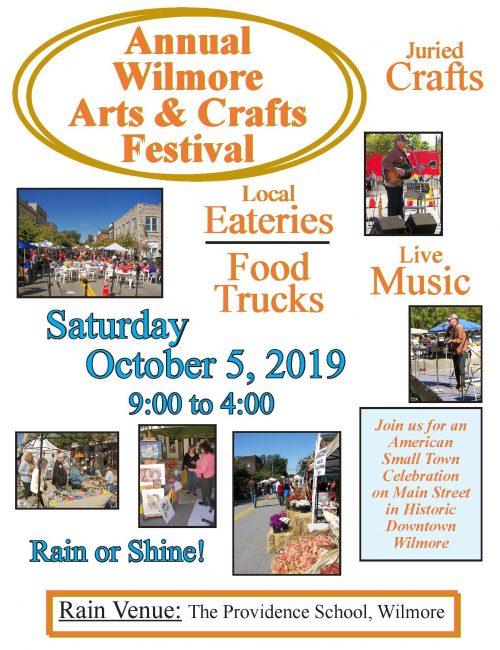 2019 Wilmore Arts & Crafts Festival Oct. 5!