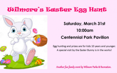 Wilmore's Easter Egg Hunt: Saturday March 31 @ 10 AM!