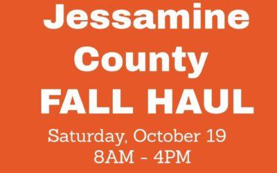 Jessamine County Fall Haul Oct. 19, 8AM – 4PM