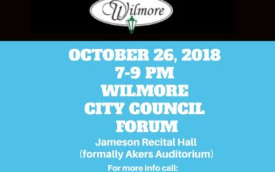 Wilmore City Council Candidate Forum Oct. 26 from 7-9 PM