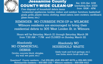 County-wide Clean-up Info for Wilmore
