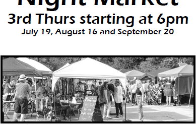 Wilmore Night Market starting @ 6 PM July 19, August 16, Sept 20
